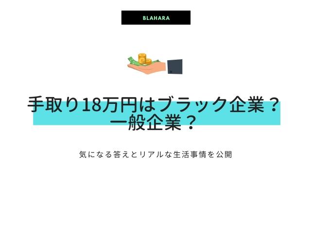 手取り18万円について