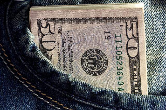 ポケットに入ったお金