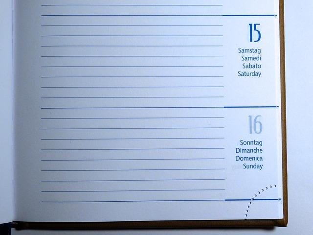 日ごとの給与を書き込む手帳