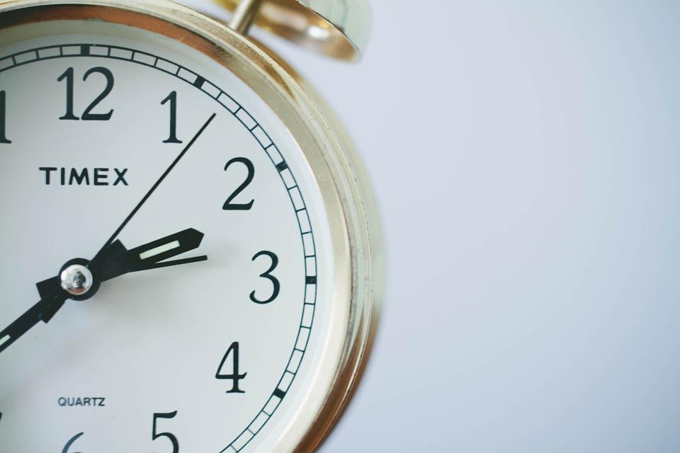 通勤時間を測る時計