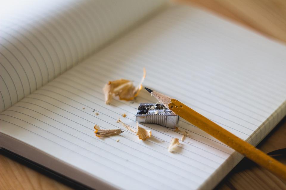 職歴を書くために削った鉛筆