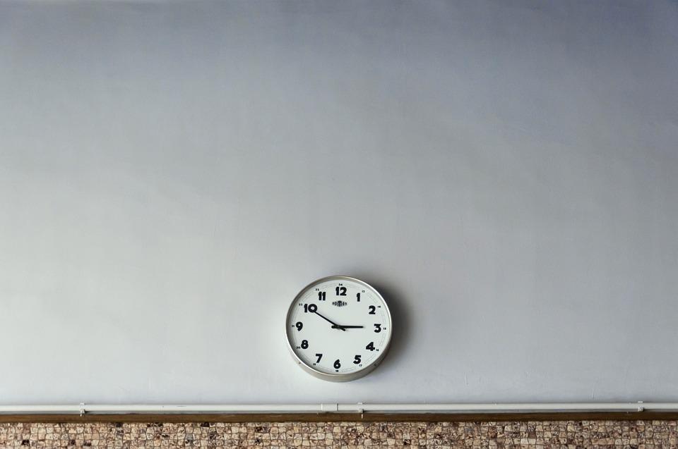 労働時間を刻む時計