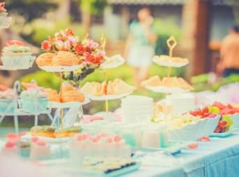 結婚式場の料理